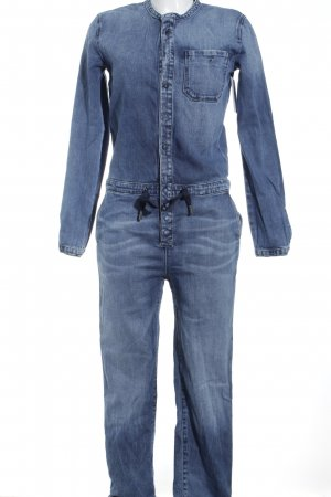 Marc O'Polo Jumpsuit kornblumenblau Jeans-Optik