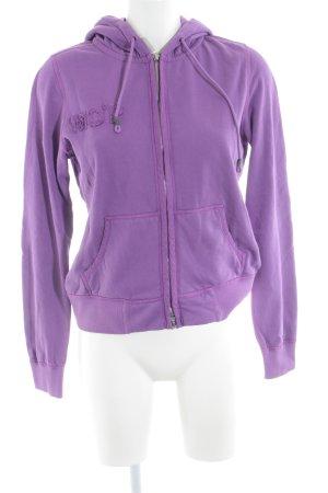 Marc O'Polo Jersey con capucha violeta estampado temático look Street-Style