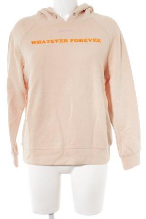 Marc O'Polo Kapuzensweatshirt apricot Schriftzug gedruckt Casual-Look