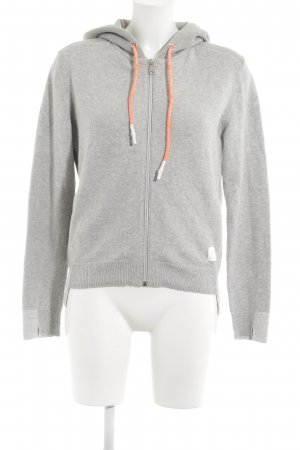 Marc O'Polo Hooded Sweatshirt light grey-neon orange flecked casual look