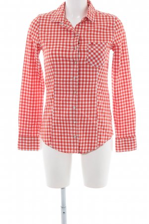 Marc O'Polo Karobluse rot-weiß Allover-Druck Casual-Look