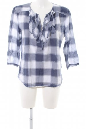 Marc O'Polo Checked Blouse blue-white allover print business style