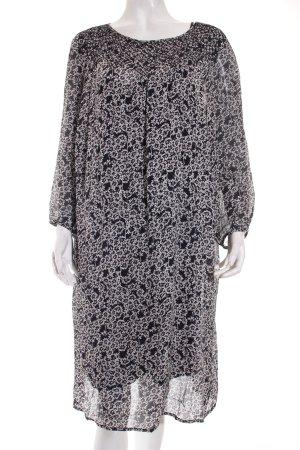 Marc O'Polo Kleid weiß-dunkelblau florales Muster Gypsy-Look