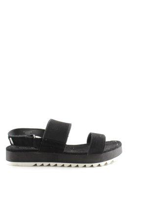 Marc O'Polo Sandalias cómodas negro-blanco estilo sencillo