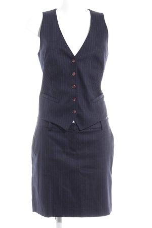 Marc O'Polo Kostüm dunkelblau-hellgrau Streifenmuster Business-Look