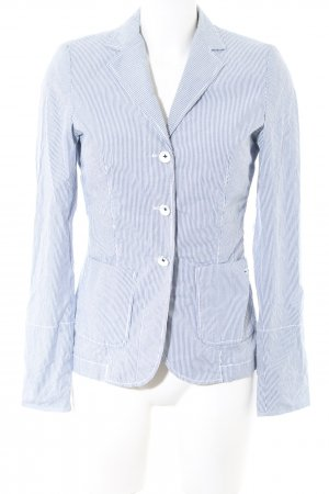 Marc O'Polo Kurz-Blazer blau Streifenmuster Business-Look