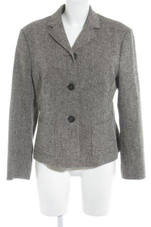Marc O'Polo Korte blazer grijs-bruin-wolwit gestippeld casual uitstraling