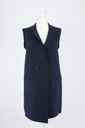 Marc O'Polo Long Knitted Vest dark blue