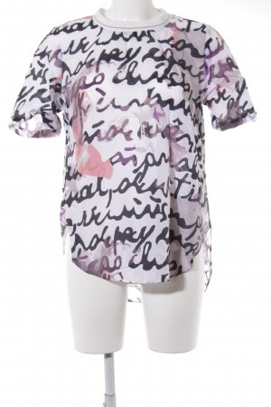 Marc O'Polo Blouse met korte mouwen abstract patroon casual uitstraling