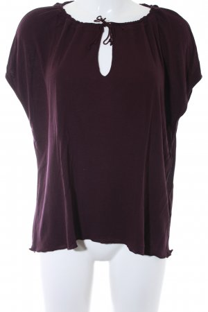 Marc O'Polo Kurzarm-Bluse brombeerrot Casual-Look