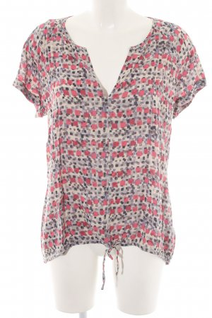 Marc O'Polo Kurzarm-Bluse grafisches Muster Casual-Look
