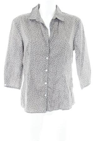 Marc O'Polo Kurzarm-Bluse graubraun-weiß florales Muster Elegant