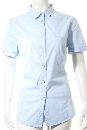 Marc O'Polo Kurzarm-Bluse hellblau schlichter Stil