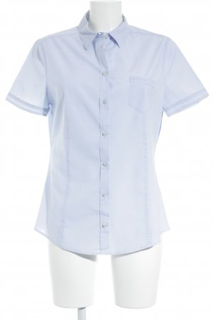 Marc O'Polo Kurzarm-Bluse himmelblau Business-Look