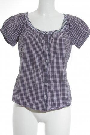 Marc O'Polo Kurzarm-Bluse Karomuster Casual-Look