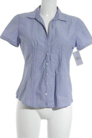 Marc O'Polo Kurzarm-Bluse kornblumenblau-weiß Streifenmuster Casual-Look