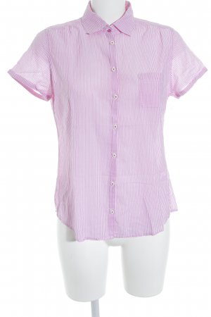 Marc O'Polo Kurzarm-Bluse pink-weiß Streifenmuster Casual-Look