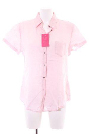Marc O'Polo Kurzarm-Bluse rosé-weiß meliert Casual-Look