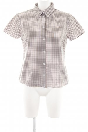Marc O'Polo Short Sleeve Shirt white-camel check pattern casual look
