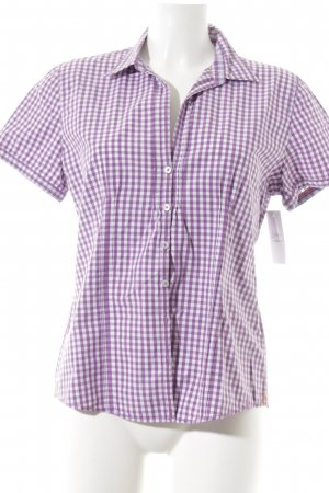 Marc O'Polo Short Sleeve Shirt white-dark violet check pattern casual look