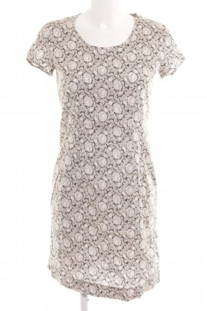 Marc O'Polo Kurzarmkleid creme-grau florales Muster Casual-Look