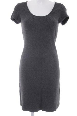 Marc O'Polo Kurzarmkleid dunkelgrau meliert minimalistischer Stil