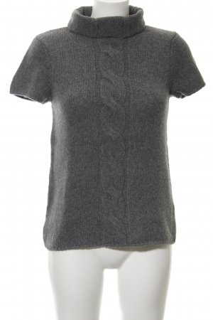 Marc O'Polo Short Sleeve Sweater dark grey cable stitch casual look