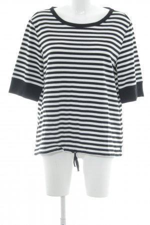 Marc O'Polo Short Sleeve Sweater black-white striped pattern casual look