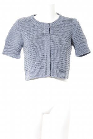 Marc O'Polo Kurzarmstrickjacke graublau Casual-Look