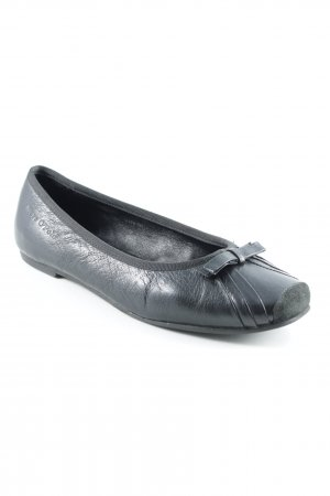 Marc O'Polo Patent Leather Ballerinas black simple style