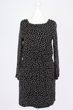 Marc O'Polo langärmliges gemustertes Kleid schwarz Größe 40