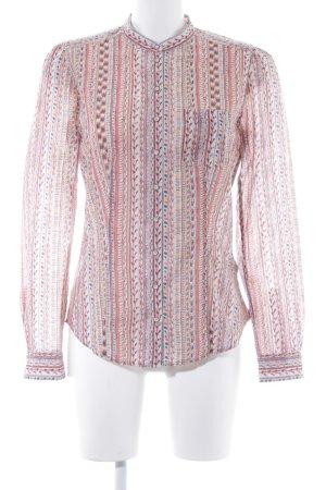 Marc O'Polo Langarm-Bluse abstraktes Muster Boho-Look
