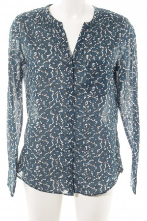 Marc O'Polo Langarm-Bluse abstraktes Muster Business-Look