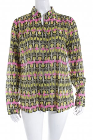 Marc O'Polo Langarm-Bluse abstraktes Muster Elegant