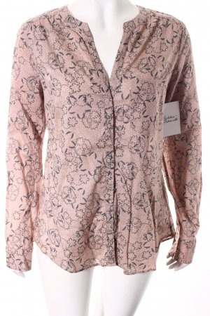 Marc O'Polo Langarm-Bluse altrosa-grau florales Muster Casual-Look