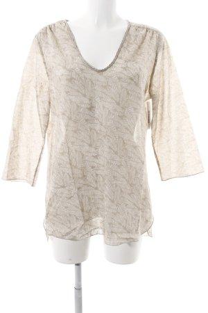 Marc O'Polo Langarm-Bluse beige-wollweiß Blumenmuster Casual-Look