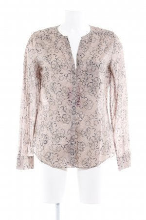 Marc O'Polo Langarm-Bluse blasslila-anthrazit florales Muster Casual-Look