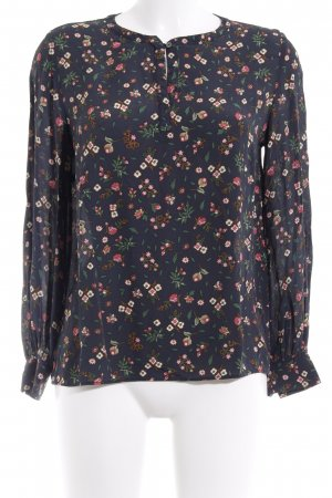 Marc O'Polo Langarm-Bluse Blumenmuster Casual-Look