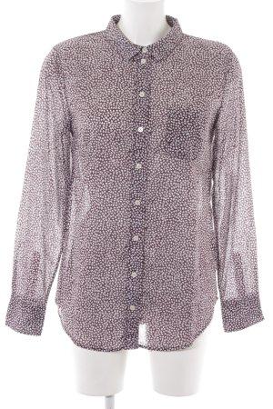 Marc O'Polo Langarm-Bluse bordeauxrot-wollweiß Street-Fashion-Look