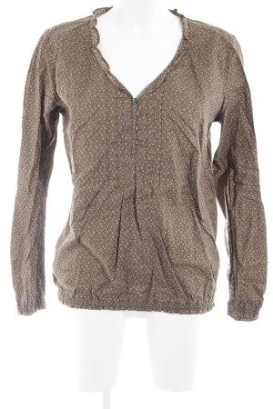 Marc O'Polo Langarm-Bluse braun Motivdruck schlichter Stil