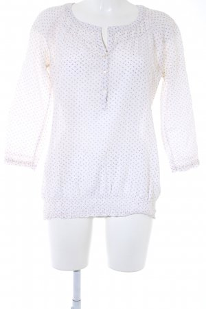 Marc O'Polo Langarm-Bluse creme-dunkelblau abstraktes Muster Casual-Look