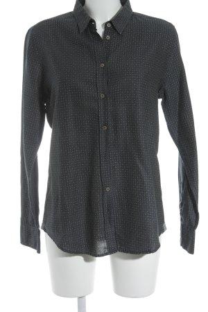 Marc O'Polo Langarm-Bluse dunkelblau-beige abstraktes Muster klassischer Stil