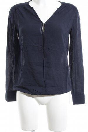 Marc O'Polo Langarm-Bluse dunkelblau schlichter Stil