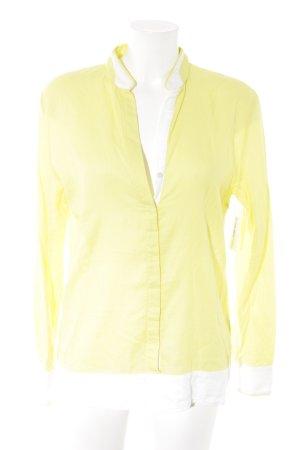 Marc O'Polo Langarm-Bluse gelb-weiß Casual-Look