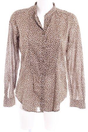 Marc O'Polo Langarm-Bluse grüngrau-weiß Punktemuster Street-Fashion-Look
