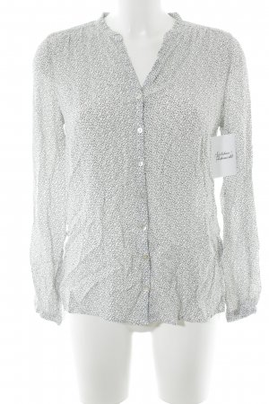 Marc O'Polo Langarm-Bluse hellbeige-schwarz abstraktes Muster Casual-Look