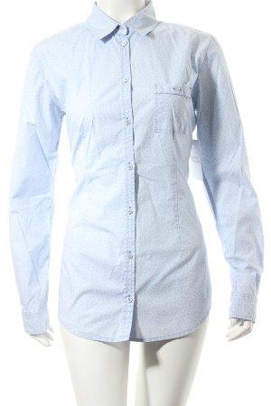 Marc O'Polo Langarm-Bluse hellblau-weiß abstraktes Muster Eleganz-Look
