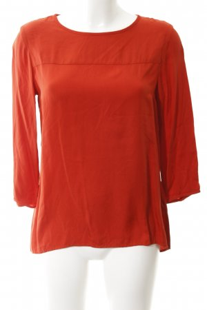 Marc O'Polo Langarm-Bluse rostrot Casual-Look