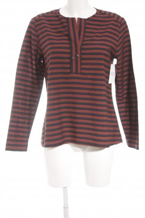Marc O'Polo Langarm-Bluse rostrot-dunkelblau Streifenmuster Casual-Look