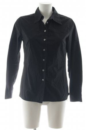 Marc O'Polo Langarm-Bluse schwarz Business-Look